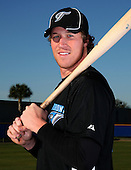 March 1, 2010:  Outfielder Adam Loewen of the Toronto Blue Jays poses for a photo during media day at Englebert Complex in Dunedin, FL.  Photo By Mike Janes/Four Seam Images