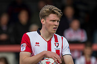Rob Dickie of Cheltenham during the Sky Bet League 2 match between Cheltenham Town and Crawley Town at the LCI Rail Stadium, Cheltenham, England on 15 October 2016. Photo by Mark  Hawkins.
