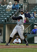 April 26, 2004:  Eric Crozier of the Buffalo Bisons, International League (AAA) affiliate of the Cleveland Indians, during a game at Frontier Field in Rochester, NY.  Photo by:  Mike Janes/Four Seam Images