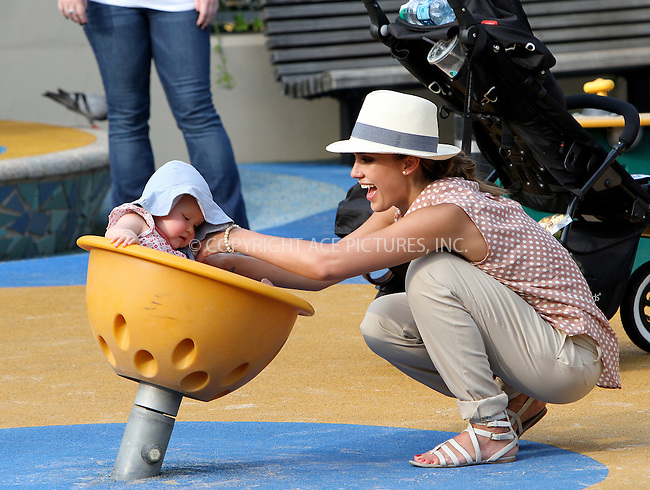 WWW.ACEPIXS.COM . . . . .  ....July 26 2012, New York City....Actress Jessica Alba took her children Haven and Honor to a playground in Manhattan on July 26 2012 in New York City....Please byline: NANCY RIVERA- ACEPIXS.COM.... *** ***..Ace Pictures, Inc:  ..Tel: 646 769 0430..e-mail: info@acepixs.com..web: http://www.acepixs.com