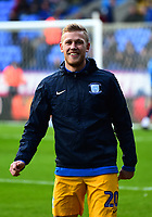 Preston North End's Jayden Stoclkley warms up<br /> <br /> Photographer Richard Martin-Roberts/CameraSport<br /> <br /> The EFL Sky Bet Championship - Bolton Wanderers v Preston North End - Saturday 9th February 2019 - University of Bolton Stadium - Bolton<br /> <br /> World Copyright © 2019 CameraSport. All rights reserved. 43 Linden Ave. Countesthorpe. Leicester. England. LE8 5PG - Tel: +44 (0) 116 277 4147 - admin@camerasport.com - www.camerasport.com