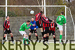 Action at the Greyhound Bar KO Cup 1st Round AC Athletic v Ballyheigue Athletic at  Mounthawk Park on Sunday