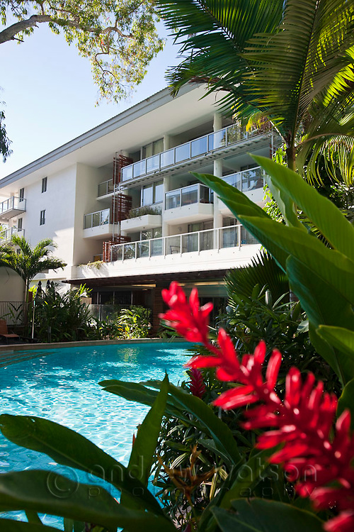 Swimming pool at Drift Apartments.  Palm Cove, Cairns, Queensland, Australia