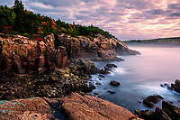 Autumn at Newport Cove in Acadia National Park, Maine.