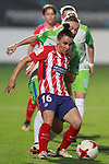 Atletico de Madrid's Jucimara Thais Soares Paz (l) and VfL Wolfsburg's Zsanett Jakabfi during UEFA Womens Champions League 2017/2018, 1/16 Final, 1st match. October 4,2017. (ALTERPHOTOS/Acero)
