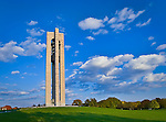 Bell tower at Carillon Park, Dayton Ohio, early fall.