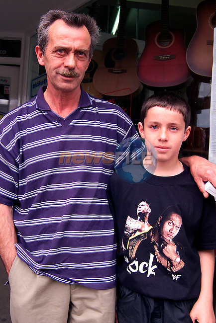 Stephen Lawless and his son Karl from Dunleer who failed to get tickets for Slane 2..Picture: Paul Mohan/Newsfile