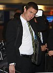 Gary Caldwell waits to check in for Tel Aviv flight
