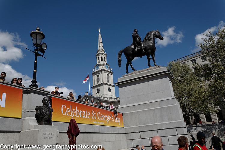 Trafalgar square, London, England