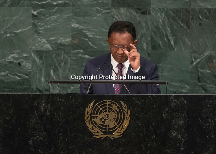 72 General Debate – 20 September <br /> <br /> His Excellency Hery Martial Rajaonarimampianina Rakotoarimanana, President of the Republic of Madagascar