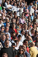 A view of supporters of Real Madrid