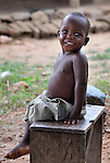 A boy in Chisatha, a village in southern Malawi.