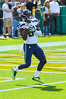 Seattle Seahawks wide receiver Amara Darboh (84) during a National Football League game against the Green Bay Packers on September 10, 2017 at Lambeau Field in Green Bay, Wisconsin. Green Bay defeated Seattle 17-9. (Brad Krause/Krause Sports Photography)