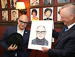 David Yazbek and Max Klimavicius during the Sardi's Portrait unveiling for The Band's Visit composer-lyricist David Yazbek at Sardi's on June 7, 2018 in New York City.