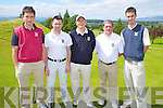 The Castleisland team who competed in the Irish Junior Cup at Killorglin Golf Club on Saturday were David Mullins, Mike Brosnahan, Brendan Mullins, Mike Sugrue and Jamie O'Neill.