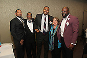 The Hyde Park Chamber of Commerce held its 75th Annual Chamber Dinner this past Thursday. The event was held at Rodfei Zedek located at 5200 S. Harper.<br /> <br /> 8910 &ndash; Hyatt Hotel staff members Maurese Nelson (1st person), Anthony Beach (3rd person), and Leroy Brown Jr (5th person) accepted the award for business of the year with Executive Director for the Hyde Park Chamber of Commerce, Wallace Goode (2nd person) and Joyce Feuer of Joyce&rsquo;s Events and Party Planning (4th person)