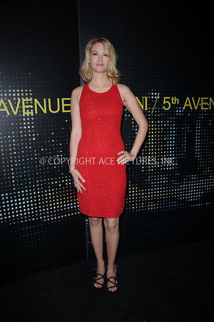 WWW.ACEPIXS.COM . . . . . ....February 17 2009, New York City....Actress January Jones arriving for the opening of the new Armani 5th Avenue store on February 17, 2009 in New York City.....Please byline: KRISTIN CALLAHAN - ACEPIXS.COM.. . . . . . ..Ace Pictures, Inc:  ..tel: (212) 243 8787 or (646) 769 0430..e-mail: info@acepixs.com..web: http://www.acepixs.com