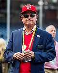 7 October 2016: Washington Nationals Owner Mark Lerner watches batting practice prior to the first game of the NLDS against the Los Angeles Dodgers at Nationals Park in Washington, DC. The Dodgers edged out the Nationals 4-3 to take the opening game of their best-of-five series. Mandatory Credit: Ed Wolfstein Photo *** RAW (NEF) Image File Available ***