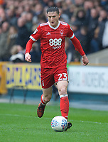 Joe Lolley of Nottingham Forest during the Sky Bet Championship match between Millwall and Nottingham Forest at The Den, London, England on 30 March 2018. Photo by Alan  Stanford / PRiME Media Images.