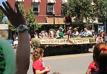 Historical Society Float in the Saugerties July 4th Parade on Main Street in Saugerties, NY on Monday, July 4, 2011. Photo by Jim Peppler. Copyright © Jim Peppler 2011.