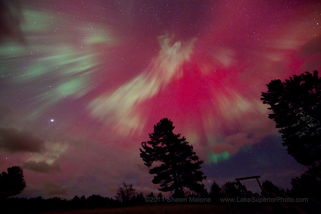 angelic aparition in the aurora borealis northern lights over Marquette Mi. The week of 10/24/2011 featured in: PopSci, Space,com, part of an 8 image aurora exlusive on FoxNews.com,DiscoveryNews.com