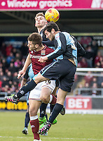Jason McCarthy of Wycombe Wanderers and Joe Jacobson of Wycombe Wanderers during the Sky Bet League 2 match between Northampton Town and Wycombe Wanderers at Sixfields Stadium, Northampton, England on the 20th February 2016. Photo by Liam McAvoy.