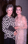Jane Greer and Anne Jeffreys attends a benefit on  September 1, 1985 in New York City.