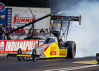 Sep 3, 2016; Clermont, IN, USA; NHRA top fuel driver Shawn Langdon during qualifying for the US Nationals at Lucas Oil Raceway. Mandatory Credit: Mark J. Rebilas-USA TODAY Sports