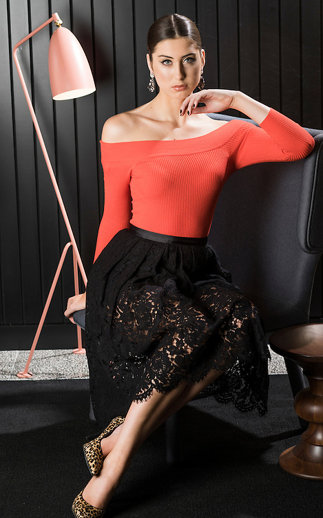 Sunday Fashion, Ladies who Lunch. Model Akaysha Adderley at the Ibis Hotel Grenfell Street Adelaide. Photo: Nick Clayton