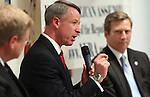 Retired Navy Commander Kirk Lippold speaksduring a debate Wednesday, June 15, 2011, in Reno, Nev. Candidates Mark Amodei, left, and Greg Brower, right, are also seeking to become the GOP candidate for the September special election for a vacant U.S. house seat. The 2nd District seat is open after Gov. Brian Sandoval appointed incumbent GOP Rep. Dean Heller to fill the unexpired term of U.S. Sen. John Ensign. .Photo by Cathleen Allison