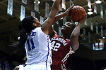17 December 2014: Oklahoma's Kaylon Williams (42) and Duke's Azura Stevens (11). The Duke University Blue Devils hosted the University of Oklahoma Sooners at Cameron Indoor Stadium in Durham, North Carolina in a 2014-15 NCAA Division I Women's Basketball game. Duke won the game 92-72.