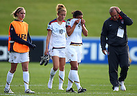 Dejected USA player Sam Johnson. USA v Korea Republic. FIFA U-17 Women's World Cup Final. North Harbour Stadium, Auckland, Sunday 16 October 2008. Photo: Simon Watts/PHOTOSPORT