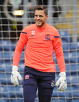 Blackburn Rovers' Jayson Leutwiler during the pre-match warm-up <br /> <br /> Photographer Kevin Barnes/CameraSport<br /> <br /> The EFL Sky Bet Championship - Blackburn Rovers v Luton Town - Saturday 28th September 2019 - Ewood Park - Blackburn<br /> <br /> World Copyright © 2019 CameraSport. All rights reserved. 43 Linden Ave. Countesthorpe. Leicester. England. LE8 5PG - Tel: +44 (0) 116 277 4147 - admin@camerasport.com - www.camerasport.com