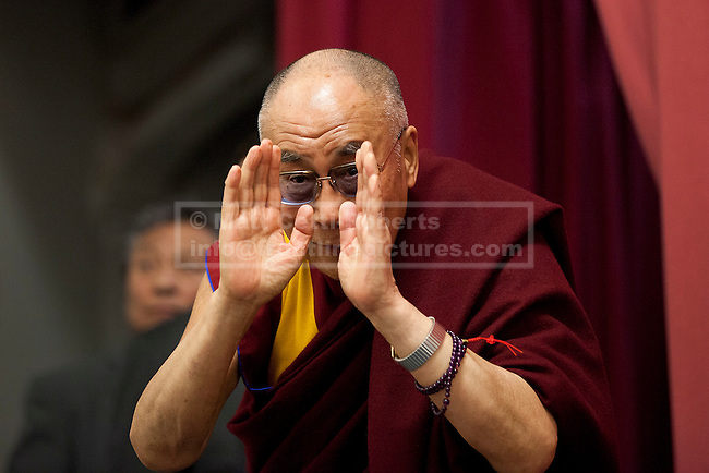 19/06/2012. LONDON, UK. His Holiness the Dalai Lama is seen at the University of Westminster's Oxford Street campus after giving a talk on the values of democracy and Tibet in London today (19/0612). The talk came as part of the Dalai Lama's visit to London to spread a message of non-violence, dialogue and universal responsibility, particularly to young people.. Photo credit: Matt Cetti-Roberts
