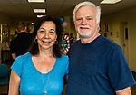 TORRINGTON, CT. 25 August 2018-082518 - From left, Donna and John Coyne of Morris enjoy themselves during the Family Arts day at the Warner Theatre Center for Arts Education in Torrington on Saturday afternoon. Bill Shettle Republican-American