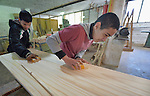 Students in a woodworking class at the Instituto de Buena Voluntad (the Good Will Institute) in Montevideo, Uruguay. Sponsored by the Methodist Church of Uruguay, the institute works with youth and adults with disabilities. It receives financial support from United Methodist Women.
