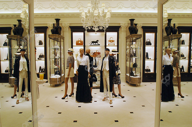 The first floor of the new Ralph Lauren store that opened officially on May 16, 2007 in downtown Moscow. Moscow, Russian, May 14, 2007.