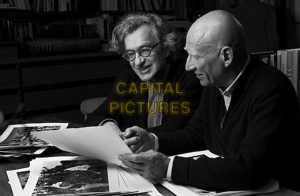 Wim Wenders (Director), Sebastiao Salgado<br /> on the set of The Salt of the Earth (2014) <br /> *Filmstill - Editorial Use Only*<br /> CAP/NFS<br /> Image supplied by Capital Pictures