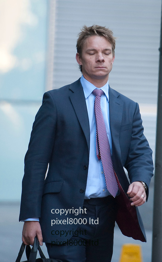 Pic shows: UBS colleague Peter Allison arrives to give evidence as a witness...Kweku (aka Kwaku) Adoboli  at Southwark Crown Court today .Former UBS trader is on fraud charges running into  billions of pounds. Mr Adoboli who is accused of ?fraudulently gambling? away $2.3bn from the Swiss bank. Mr Adoboli denies two charges of false accounting and two charges of fraud by abuse of position.....Pic by Gavin Rodgers/Pixel 8000 Ltd   25.9.12