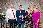 Kilgarvan GAA Social at the Kenmare Bay Hotel on Friday 4th Jan Finber Godfrey, Aoife Godfrey, Sean Godfrey (Kilgarvan GAA club player of the year) and Carmel Godfrey