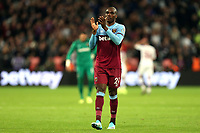 Angelo Ogbonna of West Ham United applauds the fans after West Ham United vs Crystal Palace, Premier League Football at The London Stadium on 5th October 2019