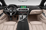 Stock photo of straight dashboard view of a 2015 BMW 6 Series M Sport 2 Door Coupe