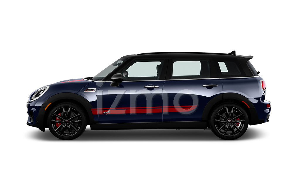 Car driver side profile view of a 2019 Mini Clubman John Cooper Works ALL4 5 Door Wagon