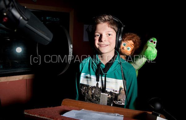 Jordi Int Panis, recording the voice for the Disney Pixar animation movie The Good Dinosaur (Belgium, 03/11/2015)