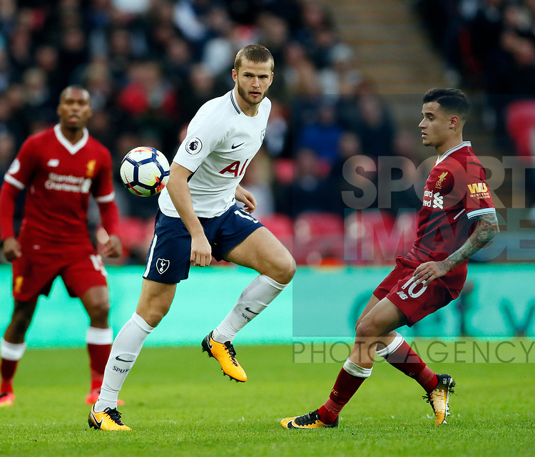Tottenham's Eric Dier in action during the premier league match at Wembley Stadium, London. Picture date 22nd October 2017. Picture credit should read: David Klein/Sportimage