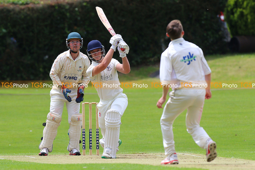 F Hazel in batting action for Upminster during Woodford Wells CC vs Upminster CC, Shepherd Neame Essex League Cricket at Monkhams Lane on 25th June 2016