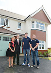 Redrow's (L-R) Dan Shone and Joanne Hammond with Cardiff Blues, Wales and British and Irish Lions player Alex Cuthbert and Cardiff Blues Rhys Williams at the official opening of the site  <br /> <br /> Redrow Homes Official opening of  at Belle View at Mon Bank Newport with Cardiff Blues Players Alex Cuthbert and Rhys Williams - Newport <br /> <br /> &copy; www.sportingwales.com- PLEASE CREDIT IAN COOK