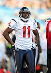 1 November 2009: Houston Texans' wide receiver Andre Davis looks up at the scoreboard from the bench during a game against the Buffalo Bills at Ralph Wilson Stadium in Orchard Park, New York, USA. The Texans defeated the Bills 31-10. Mandatory Credit: Ed Wolfstein Photo