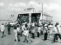 Fähre über den Mekong, Vietnam 1991