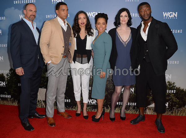 "08 January  - Pasadena, Ca - Chris Meloni, Alano Miller, Jurnee Smollett-Bell, Amirah Vann, Jessica de Gouw, Aldis Hodge. Arrivals for the WGN America Winter TCA Tour ""Underground"" held at The Langham Hotel. Photo Credit: Birdie Thompson/AdMedia"